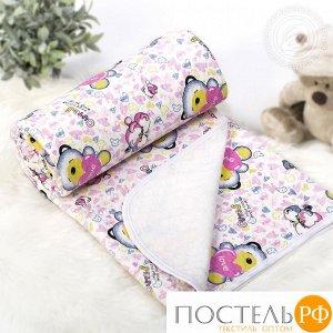 2281 Одеяло-покрывало трикотажное 140*200 Карапуз розовый