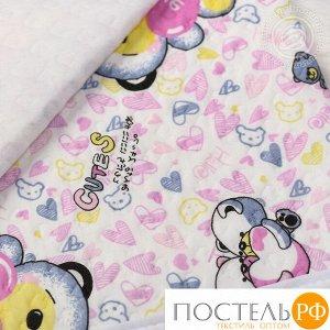 2280 Одеяло-покрывало трикотажное 100*140 Карапуз розовый