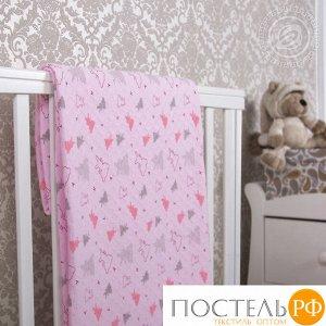 2280 Одеяло-покрывало трикотажное 100*140 Мишки-малышки розовый