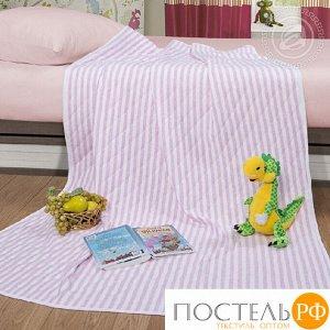 2280 Одеяло-покрывало трикотажное 100*140 Дорожка розовый