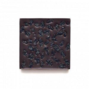 Шоколад горький 72% с черным виноградом на меду 50 гр.
