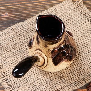 "Кофейный набор ""Кофе"" 3 предмета: турка 0.2 л, чашки 0.1 л"