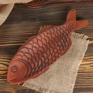 """Селёдочница """"Рыбка"""", 30 см, красная глина"""