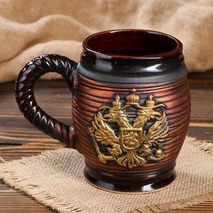 """Бокал """"Бочка"""", герб, 0.85 л"""