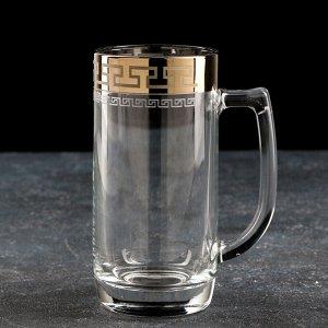 Кружка для пива GiDGLASS «Нэро», 330 мл, в подарочной упаковке