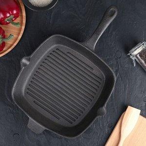 Сковорода-гриль «Гриль глубокий», 28х5,5 см, 2 слива