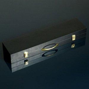 "Шашлычный набор ""Горный дух"" кейс, шампуры, два ножа"