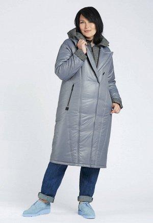 """Пальто """"Дианта""""  серый"""