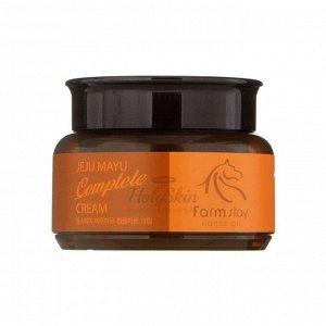Farmstay Питательный  крем с лошадиным жиром Jeju Mayu Complete Cream