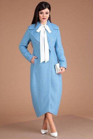 Пальто Пальто Мода Юрс 2519 голубой  Состав ткани: Вискоза-22%; ПЭ-58%; Шерсть-20%;  Рост: 164 см.  Пальто нежных пастельных оттенков - идеальный весенний look. Создает прекрасный тандем как с романт