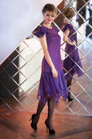 Платье Euro Moda 192 сирень