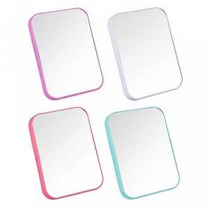 ЮниLook Зеркало настольное, пластик, стекло, 13х18см, 4 цвета, ЗН19-1