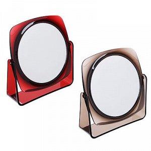 Зеркало настольное, 16,5х17,5см, пластик, стекло, 2 цвета, 1207С