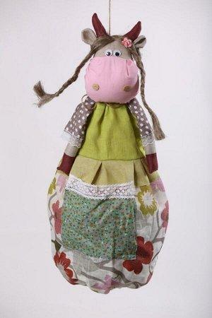 Корова ОПИСАНИЕ Вашему вниманию предлагается добрая и милая кукла, несущая тепло и уют в каждый дом!  Это удобный и функциональный контейнер для хранения полиэтиленовых пакетов, фартуков, салфеток, по