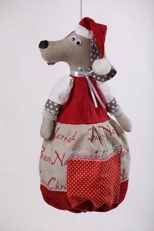 Собака ОПИСАНИЕ Вашему вниманию предлагается добрая и милая кукла, несущая тепло и уют в каждый дом!  Это удобный и функциональный контейнер для хранения полиэтиленовых пакетов, фартуков, салфеток, по