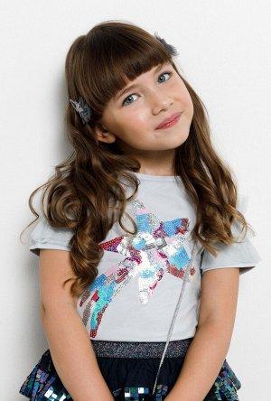 Блузка детская для девочек Leopold светло-серый