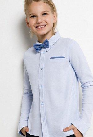 Сорочка верхняя детская для мальчиков Karr голубой