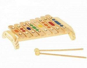 Ксилофон 8 тонов (деревянный)