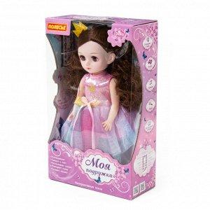 """Кукла """"Алиса"""" (37 см) на балу (ходит, танцует, разговаривает, поёт, рассказ. сказки, воспр. мелодии, повтор. слова, туфельки светятся) (в кор.)"""