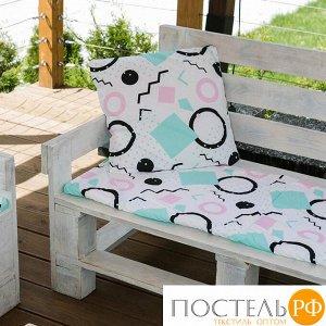 Декоративная подушка уличная Этель «Квадраты», 45 ? 45 см, репс с пропиткой ВМГО, 100%-ный хлопок