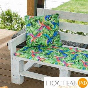 Декоративная подушка уличная «Этель» Попугай, 45?45 см, репс с пропиткой ВМГО, 100% хлопок
