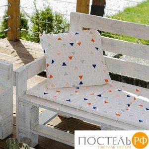 Декоративная подушка уличная «Этель» Треугольники, 45?45 см, репс с пропиткой ВМГО, 100% хлопок