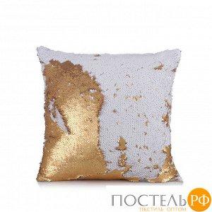 "Подушка декоративная ""GOOD MOOD"" цвет: Полярное золото, коллекция Magic Shine, арт. 3887, 1/7"