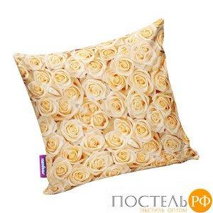 Подушка игрушка «Чайные розы» (P2929C1701A005OR, 29х29, Оранжевый, Кристалл, Микрогранулы полистирола)