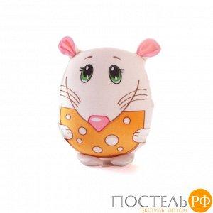 Игрушка «Мышка с сыром» (T2517C3005S001WH, 25x17, Белый, Стрейч бархат, Микрогранулы полистирола)