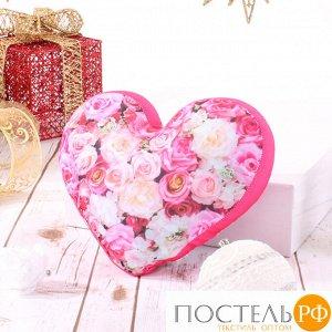 Игрушка «Сердце 3D Букет цветов» (T2825C1701A101PN, 28х25х10, Розовый, Кристалл, Микрогранулы полистирола)