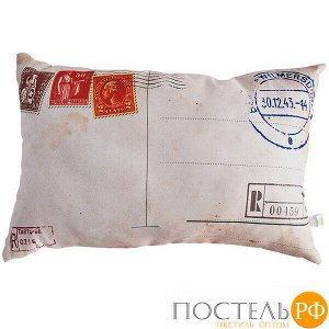 Подушка интерьерная Открытка (В0244, 35х55, Красный, Оксфорд, Холлофайбер)