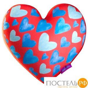 Игрушка «Сердце 3D Сердечки Big» (T2825C1701A104RD, 28х25х10, Красный, Кристалл, Микрогранулы полистирола)