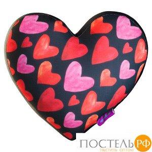 Игрушка «Сердце 3D Сердечки Big» (T2825C1701A104BK, 28х25х10, Черный, Кристалл, Микрогранулы полистирола)