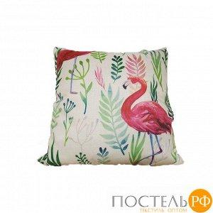 Декоративная подушка с печатным рисунком арт.1-1 (фламинго)