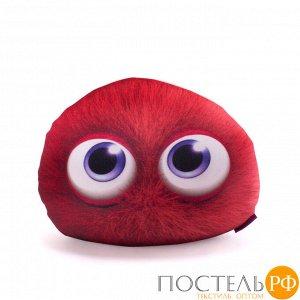 Подушка игрушка «Монстрятики» (P2431C1018S009RD, 24х31, Красный, Велюр, Микрогранулы полистирола)