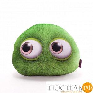 Подушка игрушка «Монстрятики» (P2431C1018S009GR, 24х31, Зеленый, Велюр, Микрогранулы полистирола)
