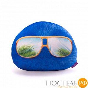 Подушка игрушка «Монстрятики» (P2431C1018S009DB, 24х31, Синий, Велюр, Микрогранулы полистирола)