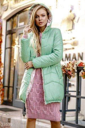 Куртка нежно-мятного оттенка