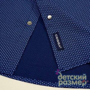 Рубашка на кнопочках ( синий-желтый)