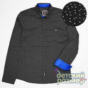 Рубашка Рубашка для мальчиков :- выполнена из качественного и приятного к телу текстиля- застегивается на пуговицы по всей длине- украшена лаконичным мелким рисунком и брендированной нашивкой на груди