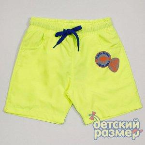 Шорты пляжные (текстиль) желтый