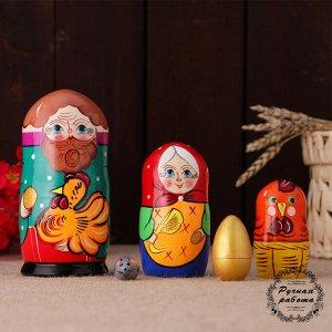 Матрёшка «Курочка Ряба», сюжетная, 5 кукольная, 13,5 см