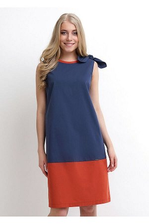 #90242 Платье (CLEVER) т.синий