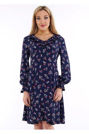 #90238 Платье т.синий/красный