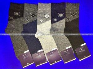 Зувей носки мужские ангора + шерсть с рисунком