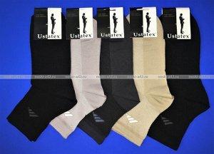 Юста носки мужские укороченные спортивные 1с19 сетка темно-серые