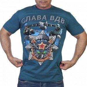Мужская футболка Слава ВДВ! - дизайн, который не оставит равнодушным даже самого закалённого десантника! №10А