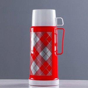 """Термос """"Добрый"""" с 1 кружкой и 1 чашкой, 1 л, соxраняет тепло 8 ч, 12x28 см, микс"""