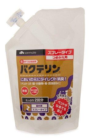 Спрей поглотитель запахов для домашних животных Sanmate (сменный блок) 500 мл