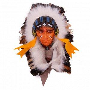 Маска Старейшина племени- символизирует мудрость победу и защиту 33см